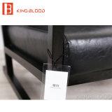 Hotsale 현대 여가 나무로 되는 까만 진짜 가죽 팔 의자 소파 의자