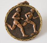 Evento desportivo feito sob encomenda medalha de bronze antiga chapeada com o colhedor disponível