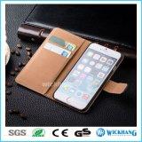Caso del tirón de la carpeta del cuero genuino para el iPhone 6 7 más