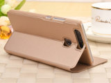Caixa superior do telefone do couro do suporte para Huawei P9