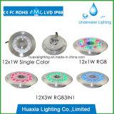 IP68 36W RGB LED Submarino piscina de la fuente de luz, luz LED para la fuente