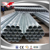 Tubo d'acciaio galvanizzato rotondo del TUFFO caldo di BS1387/ASTM A53 ERW
