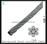 Galvanisiertes Stahlkabel 7X19 - Flugzeug-Kabel