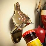 Preiswertes kundenspezifisches Metallsilbermatt-Bier-an der Wand befestigter Flaschen-Öffner