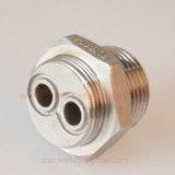 Ajustage de précision de pipe hydraulique de fiche d'hexagone de l'acier inoxydable BSPT de fiche de pipe avec le trou 2 pour la chaufferette
