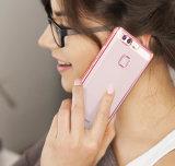 Nuevo llega la caja plateada oro suave ultra delgado del borde de TPU para Huawei P9 más el compañero 9