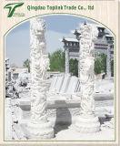 Steinspalte, die Steinspalte-Skulptur-Stein-Statue schnitzt