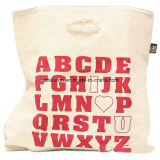 Saco de compra relativo à promoção rápido do algodão do tempo de entrega com logotipo