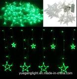 Heißes verkaufenvorhang-Licht der qualitäts-2m138LEDs LED mit grossem Stern 12