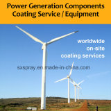 Matériel de pulvérisation de machine de fil d'arc électrique pour les composants en acier de turbines de vent enduisant le jet thermique Processings