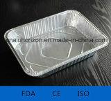 Aluminiumfolie-quadratische silberne Wegwerfkuchenformen
