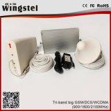 de Versterker van het Signaal van de Telefoon van de Cel 110V-240V 900/1800/2100MHz GSM/Dcs/WCDMA voor Bureau wordt geplaatst dat