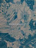 Tela azul de la impresión de la flor para la ropa de deportes (HD1401106)