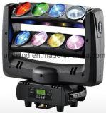 LED 효력 8PCS 거미 이동하는 맨 위 자전 광속 이동하는 빛