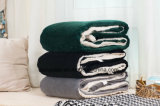 Одеяло одеяла Sherpa изготовленный на заказ/ватки продукта младенца - зеленый цвет