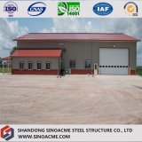 Vorfabriziertes Stahlkonstruktion-Lager mit Kabinendach und Garage