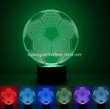 Lampe neuve de forme du football de l'illusion DEL de l'arrivée 3D d'éclairage