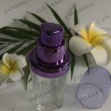 30ml effacent la bouteille crème en verre avec la pompe pourprée de lotion d'Alumite pour les produits de beauté (PPC-GB-013)