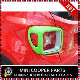 Cubierta verde material de la lámpara trasera del estilo del ABS del accesorio auto para el modelo renegado (2PCS/SET)