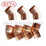Encaixe do cobre do cotovelo de 45 graus para Hvacr