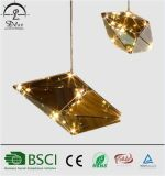 Diamante ahumado popular moderno que cuelga la lámpara pendiente de cristal del LED Maxhedron