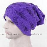 卸し売りブランク明白な固体安いニットの帽子の帽子