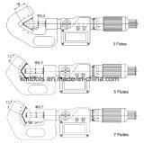 2.6-3.4 micrómetros del V-Yunque '' x0.001 '' con 7 flautas