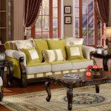 Il sofà classico del tessuto con la Tabella ha impostato per il salone