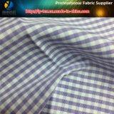 Tessuto tinto normale dell'assegno filo di cotone/del poliestere per la camicia delle donne