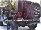 Alta calidad para los parachoques traseros de acero del Wrangler del jeep con el portador del neumático para las piezas de automóvil