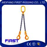 Imbragatura a catena dei piedini dell'acciaio legato del grado 80 due