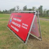 Stand en aluminium pliable extérieur de panneau d'annonce de stand de drapeau d'étalage (SS-AS-02)