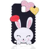 Подгоняйте милый случай мобильного телефона силикона уха кролика 3D