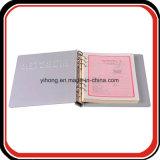 Planificador de encargo del organizador de la insignia de la carpeta de la cubierta de /Aluminium del metal