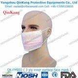 Medico fornire la maschera di protezione non tessuta a gettare di Earloop dei 3 dispositivi di piegatura