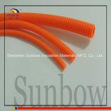 Orange ondulée de tuyauterie de manche de mur fendu de Sunbow