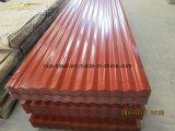 Qualitäts-Farben-Stahlplatten-Material-einzelnes Haut-Dach-Blatt auf Dubai Oman Qatar