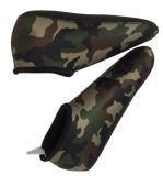 Носки неопрена Camo рукоятки зеленые при Flatlock для подныривания