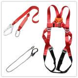 Sagola industriale completa rossa della corda del cavo di sicurezza del corpo con l'amo forgiato