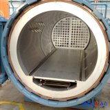 1000X1500mm 실험실 사용을%s 오토클레이브를 치료하는 수평한 미끄럼 거치된 탄소 섬유