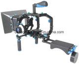 Снаряжение набора DSLR держателя плеча видеокамеры DSLR с непрерывным изменением фокусировки камеры с коробкой Matt