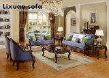 Cadeira americana do sofá da tela & do assento de amor da antiguidade com jogo clássico da tabela