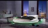 Base de couro clara moderna nova do diodo emissor de luz (HC558) para a mobília do quarto