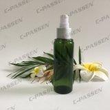 frasco verde do animal de estimação de 100ml 150ml com a bomba plástica da loção para o empacotamento dos cosméticos (PPC-PB-077)