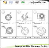 Radiateur en aluminium d'extrusion de profil de tube de cercle de Guangzhou