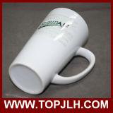 Cuvette blanche en céramique spéciale de cône de la tasse de café 17oz