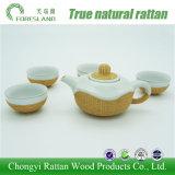 사기그릇 Ruoyao 중국 최고 급료 차 세트 남비 컵