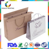 Beaux sacs à main de papier à extrémité élevé avec le traitement de papier pour des vêtements