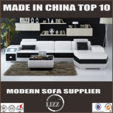 Sofá de cuero verdadero usado hogar vendedor caliente 2016