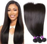Cheveu 100% droit de prolonge brésilienne non transformée de cheveux humains de cheveu de Vierge